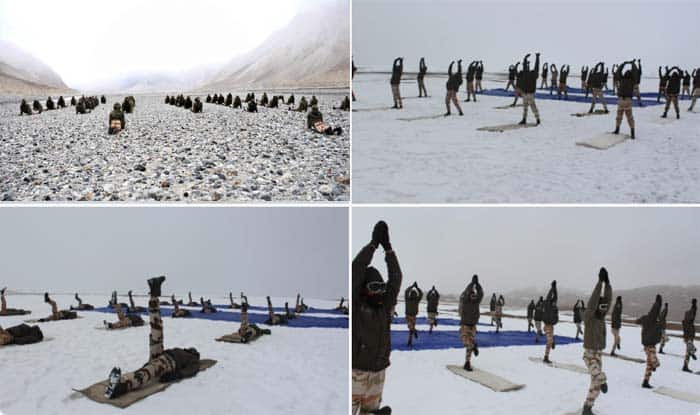 ITBP Performs Yoga at 18,000 ft Snow-Covered Ladakh | IN PICTURES