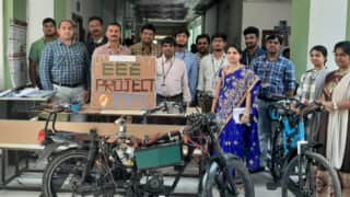 KL University Students Develop First-of-Its-Kind Electric Bike With Wireless Charging