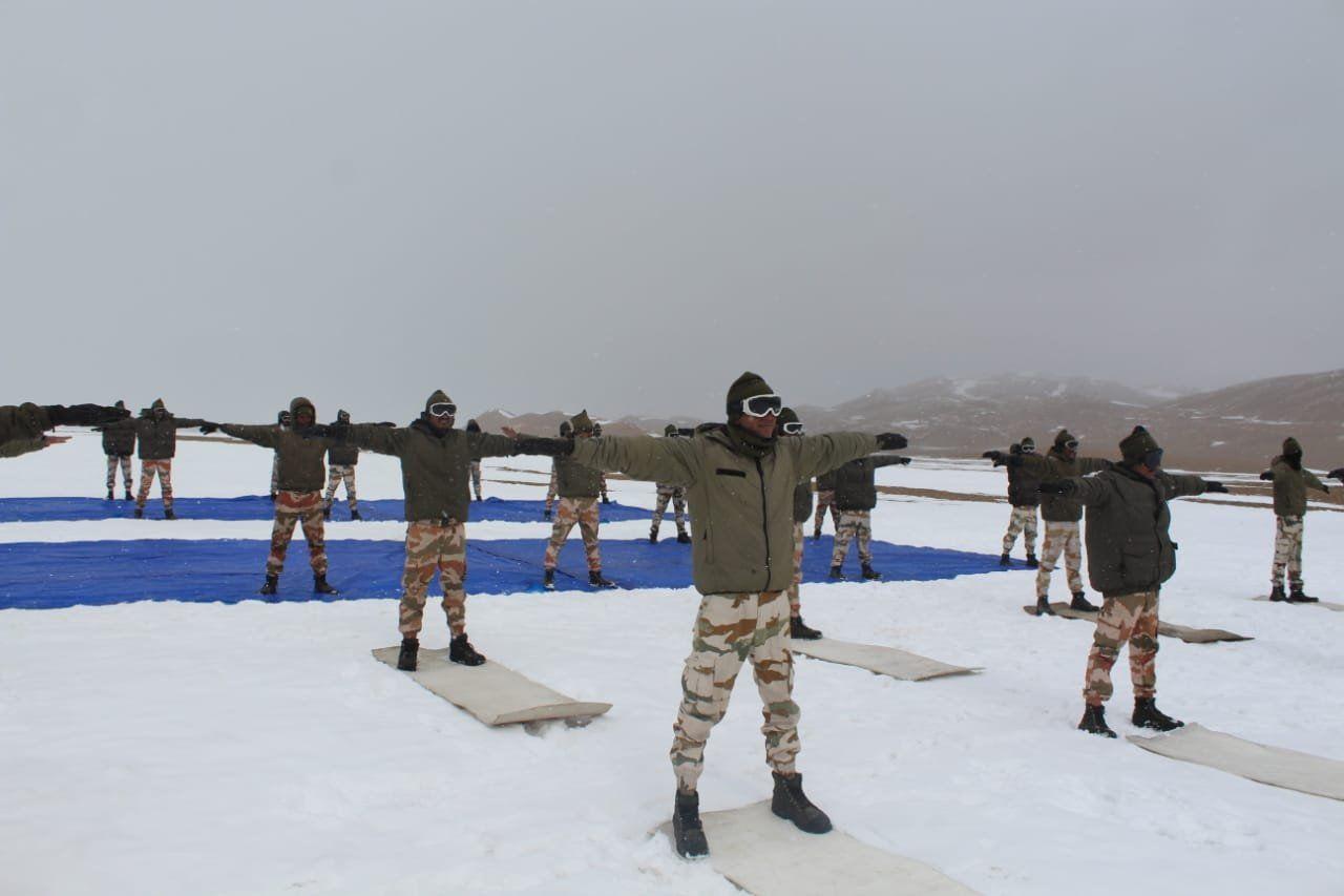 ITBP performs yoga in Ladakh