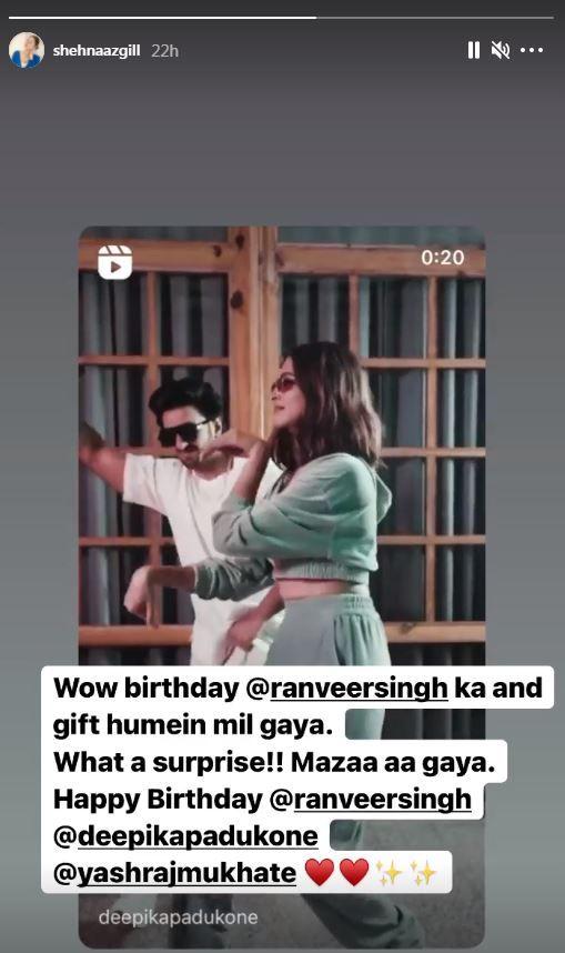 Shehnaaz Gill Reacts To Deepika Padukone-Ranveer Singh's Video