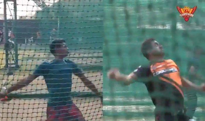 A viral bowling video shows Muttiah Muralitharan's son in the same position