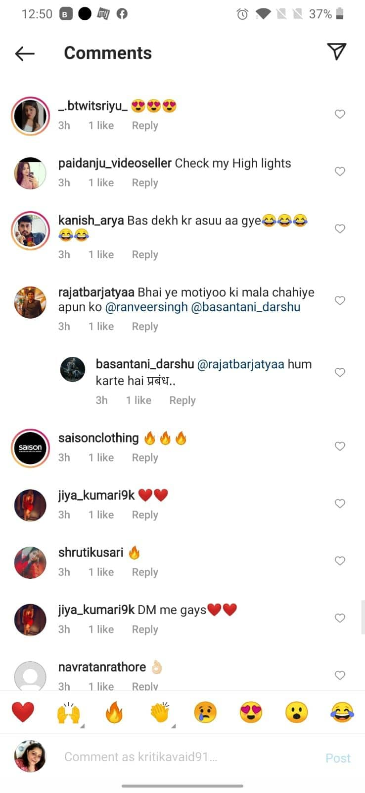 Ranveer Singh fans reacts to latest photos