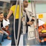 Viral Video: Man Offers Metro Seat to Girl Carrying a Baby, Something Really Funny Happens Next | Watch