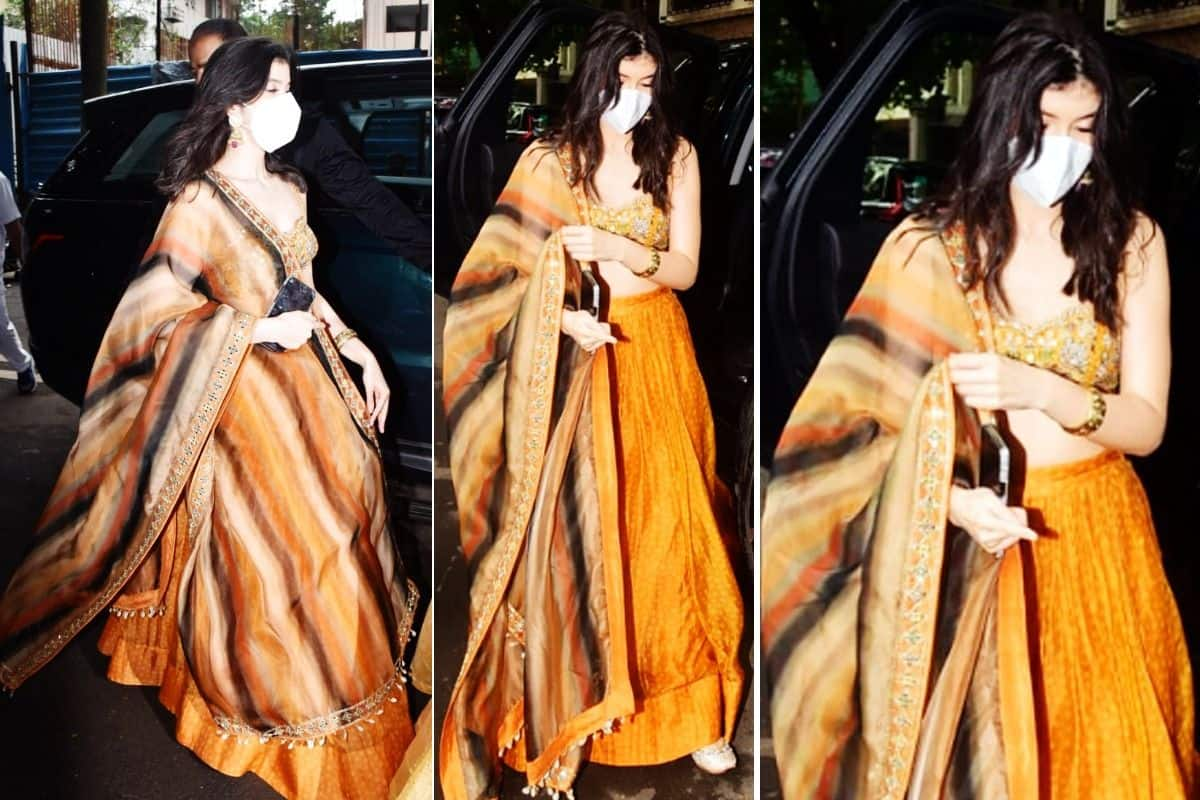 Rhea Kapoor's Wedding: Shanaya Kapoor Looks Pretty in a Floral Lehenga Worth Rs 78,000 | See Pics