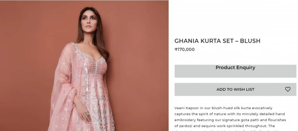 Vaani Kapoor Channels Ethnic Vibes in Blush Pink Suit by Anita Dongre's Worth Rs 1. 7 Lakh