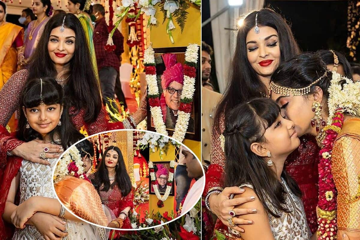 Aishwarya Rai Bachchan with Daughter Aaradhya Dolls-Up For Cousin's Wedding