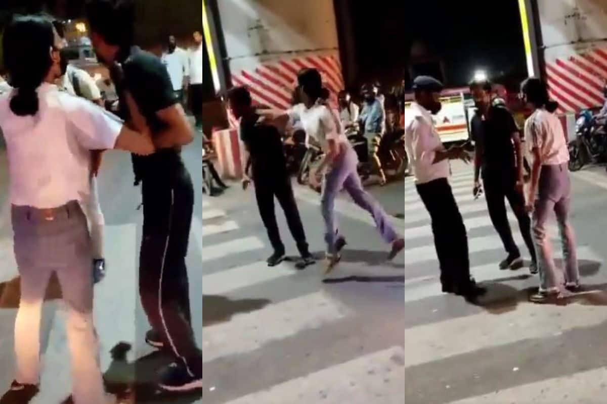 Video of a Girl Thrashing a Cab Driver in the Middle of a Road in Lucknow  Goes Viral | WATCH