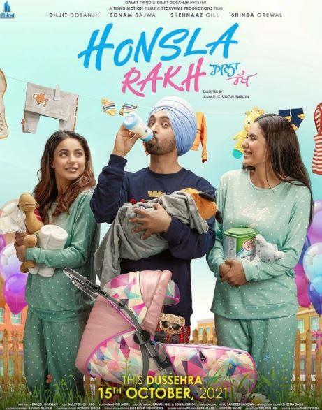 Honsla Rakh 2021 Punjabi 450MB Pre-DvDRip 480p HC-ESubs Download