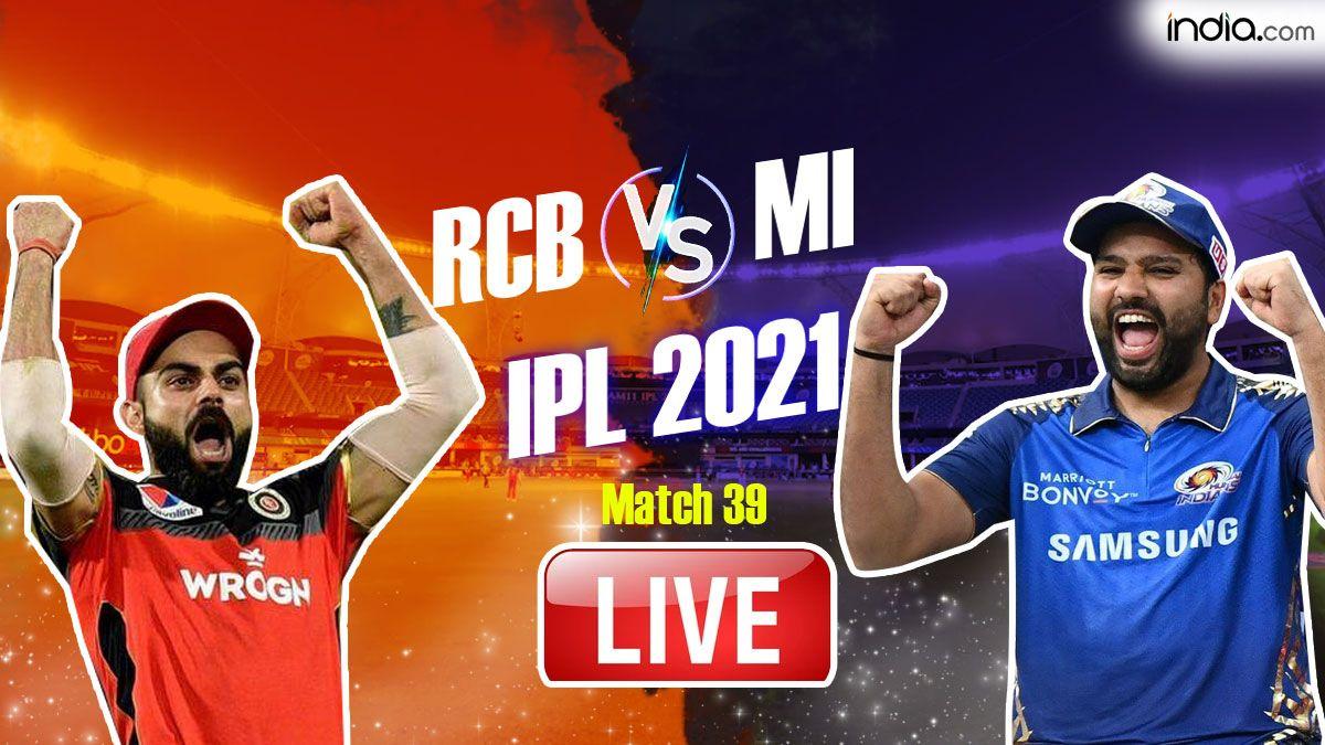 IPL 2021 LIVE SCORE: RCB vs MI in Dubai
