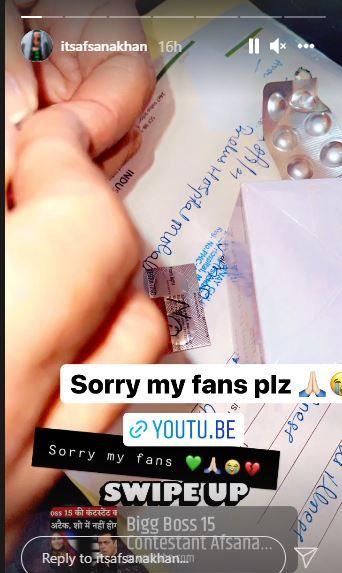 Afsana Khan's Instagram post