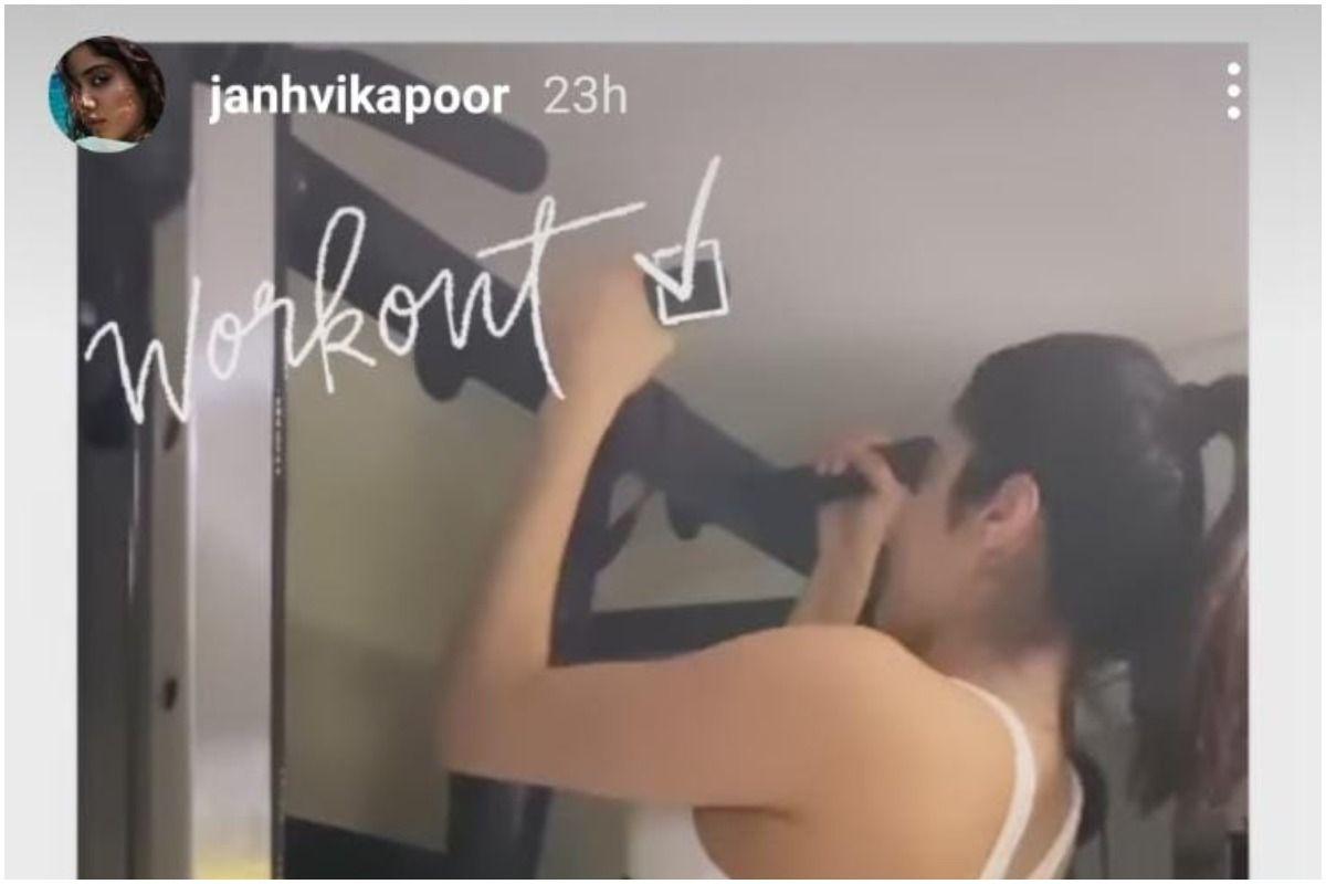 Janhvi Kapoor in Frame. Picture Credits: Instagram(@janhvikapoor)