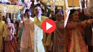 Viral Video: Bride's Romantic Entry on Nachdi Phira Song From Secret Superstar Makes Groom Emotional
