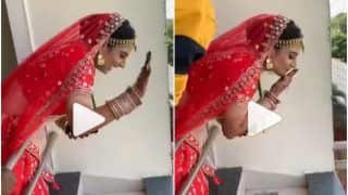 Viral Video: Bride Waves at The Groom, Sends Him Flying Kisses As He Arrives at Wedding Venue | Watch